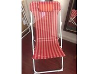 Deck Chairs x4 red & white