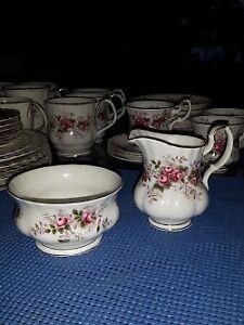 Royal Albert Lavender Rose Cream and Sugar Dishes
