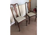 Harlequin set of 5 Queen Anne Dining Chairs