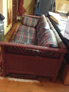 Free Wicker couch - great condition