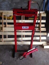 NEW clarke 'strong arm' 10 ton hydraulic press