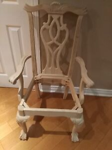 12 New unfinished Chippendale chairs / Ball and Claws feet