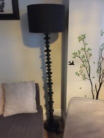Black stylish floor lamp - 15£