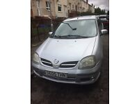 Silver Nissan Almera tino . immaculate inside and out