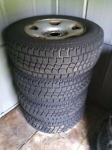 SNOWS TIRES, RIMS FOR FORD 150