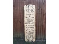 Wooden bistro wall plaque