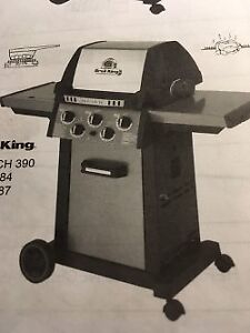 Broil King Barbecue with gas push connection