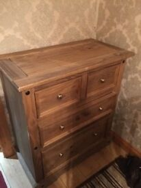 Rustic chest of drawers also small cabinet