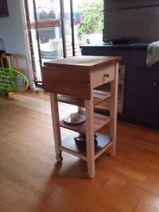 IKEA white wooden kitchen trolley Scarborough Stirling Area Preview