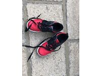 Black and Red Heelys size 3 in great condition