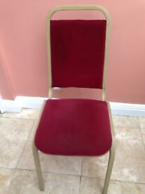 32 restaurant / dining chairs, red and gold