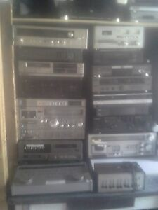 Amplifiers, equalizers, turntable, VCRs, Radio and more