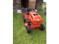Westwood ride on mower with grass collector