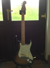 Fender Classic Player 50's Strat - 2 tone sunburst (modified) w/fender gig bag