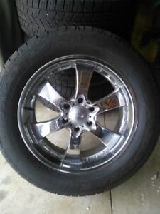 "Set of 4, 20"" Wheels and Tires"