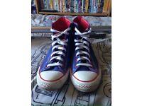 Converse all star hi blue and red men's 9.5