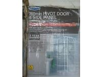 New boxed 760mm pivot door and side