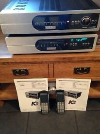 Roksan Kandy K2 amp/cd player with original remotes and instructions/packaging