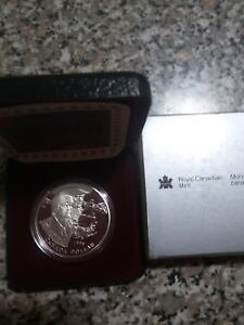 1995 Canadian proof silver dollar coin