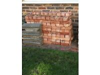 Bricks - approx 210 new and 100 used - see pics for colour