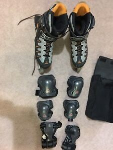 Mens Bio Dynamic ABEC Rollerblades, used only once.