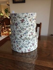 Tapestry Storage Containers/ Hat Boxes