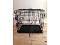 black metal folding pet cage dog cat puppy training crate for sale £12