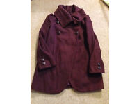 French Connection Maroon size 10 maternity coat