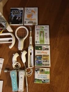 Wii w/ Rockband, Wiifit, Wiisports accessories and games Edmonton Edmonton Area image 2