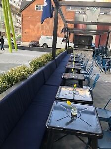 Custom Outdoor Banquette Seating
