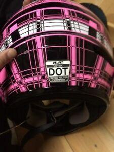 HJC Pink Womans / Girls, Motorcycle, Helmet, NEW.
