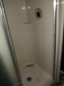 shower stalls with glass door  $160