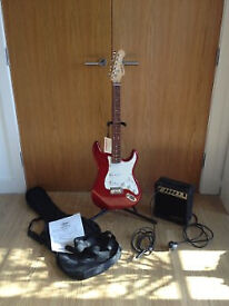 ARIA Electric Guitar STG Series with AMP and accessories