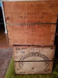 Vintage Wooden Cheese Crates