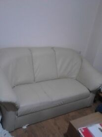 Free large Cream 3 seater Sofa on offer