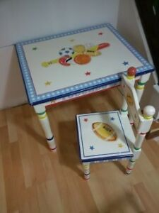 Boys sports table with matching chair