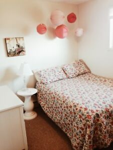 One bedroom in a two bedroom apartment