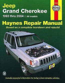 Jeep Grand Cherokee Repair Manual Haynes Manual Workshop Manual 1993-2004 50025