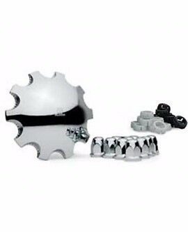 Alcoa Front Hub Cover Kit 11 Piece System Chrome ABS Plastic (076188)