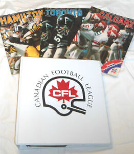 BINDER OF CFL PROGRAMS Kitchener / Waterloo Kitchener Area image 1