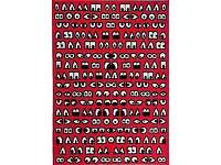 Glödande Red Rug From IKEA