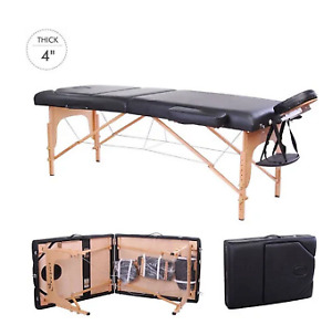 Massage table with sheet set and stool
