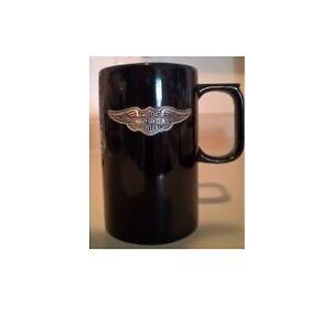 Harley Davidson Motorcycles Tall Black Coffee Mug