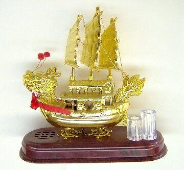 Feng Shui Music Dragon Sailing Boat
