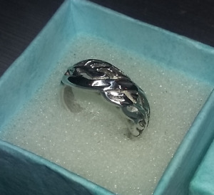 Very Pretty Sterling Silver Rings, Celtic Style & Flowers