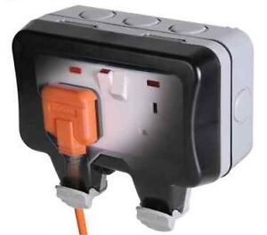 Weatherproof 13a double socket ip66