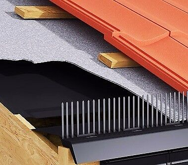Ubbink Over fascia 3 in 1 roof vent airflow bird stop and eaves protection system