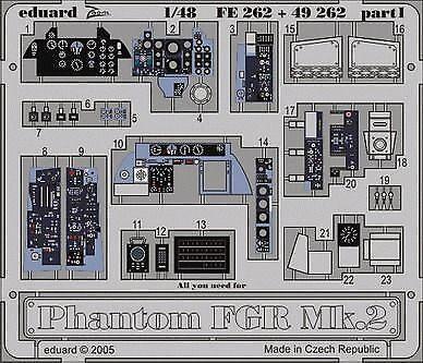 Eduard Accessories 49262 - 1:48 Phantom Fgr Mk.2 Für Hasegawa/Revell Bausatz - Ä