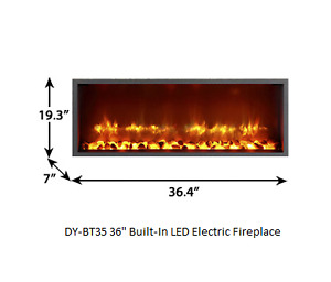 """35"""" Built-in LED Wall Mount Electric Fireplace (Free Shipping)"""
