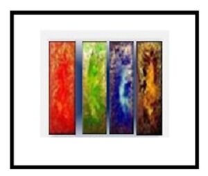4009- Abstract Art  handmade (not printed) oil  painting
